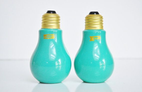 MidCentury Light Bulb Salt and Pepper Shakers by thewhitepepper, $24.50