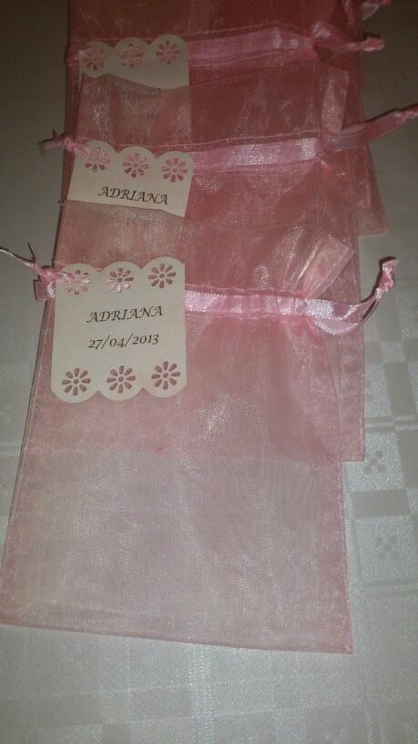 Bolsitas personalizadas para regalitos de comunion Aleregalossevilla@gmail.com