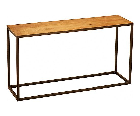 Console bois d'orme et fer, naturel et noir - L140