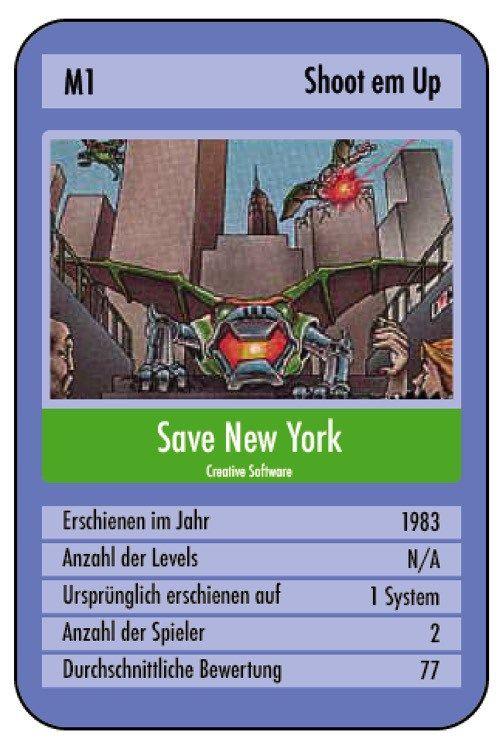 Habt ihr auch schon Spiele gespielt, bei welchen das Weiterkommen eigentlich nebensächlich war? Bei mir war eines davon Save New York für den Commodore 64.
