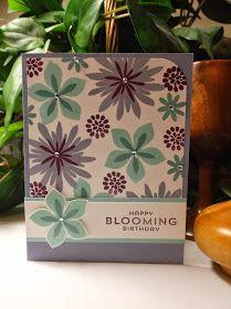 Rachel's Card Corner: Another Stampin' Up!  Flower Patch, Flower Fair framelits, phtopolymer Birthday