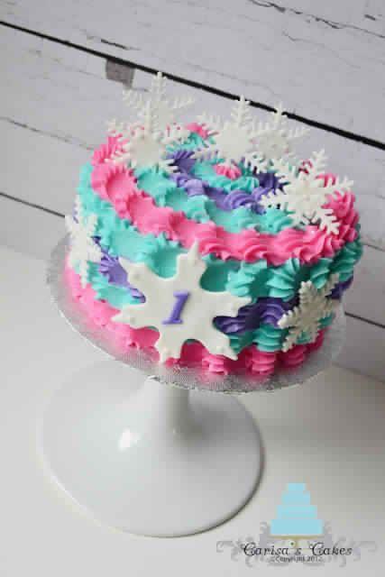 Winter ONEderland cake Carisa's cakes smash cake