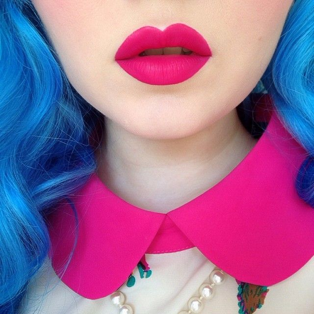 PINK VELVET is back in stock on limecrime.com!  Modeled by @doedeere.Get it while it lasts!