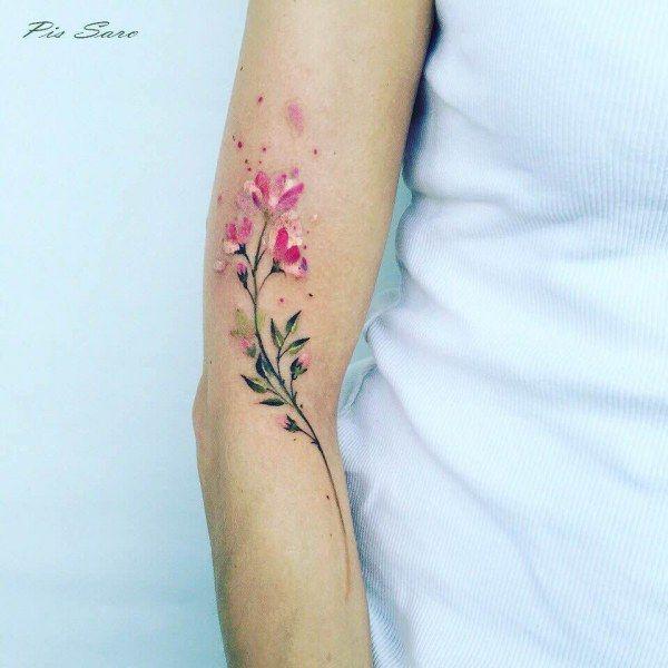 Нежные и воздушные татуировки с растительной тематикой (15 фото)