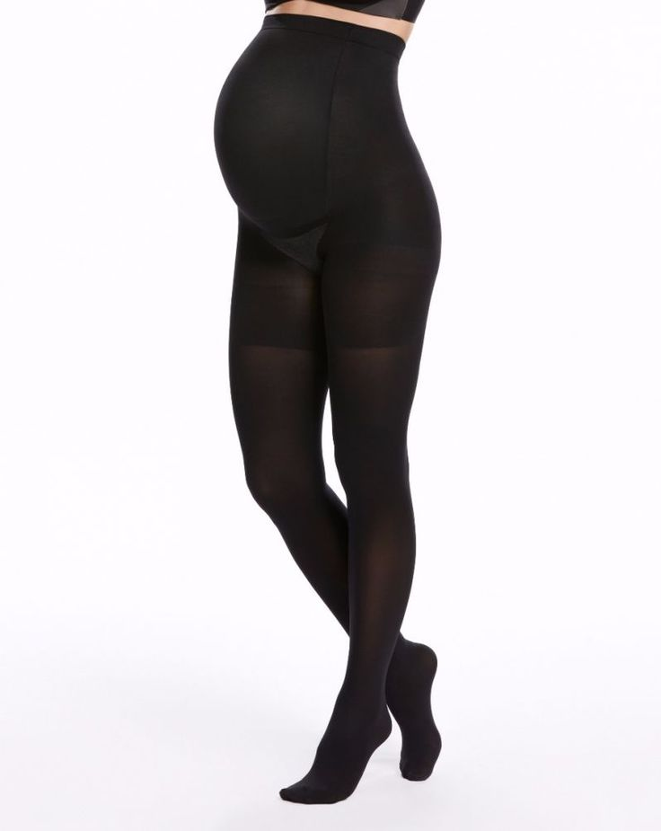 <ul> <li>60 denier—semi-opaque</li> <li>These tights grow with your belly—choose your pre-pregnancy size</li> <li>Cotton gusset makes panties optional & eliminates VPL (Visible Panty Lines)</li> </ul>