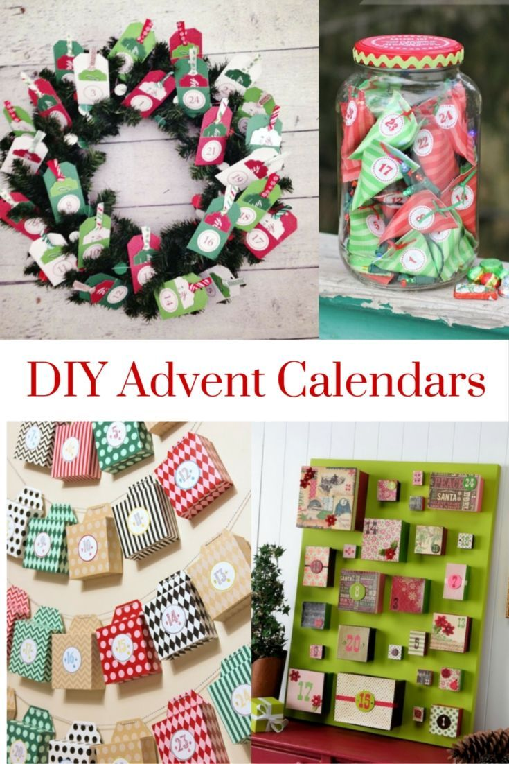 DIY Advent Calendars - 20 different ideas for making your own advent calendar, plus fun advent activities.