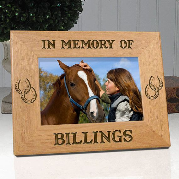 "Personalized Memorial Horse Frame ""In Memory Of"""