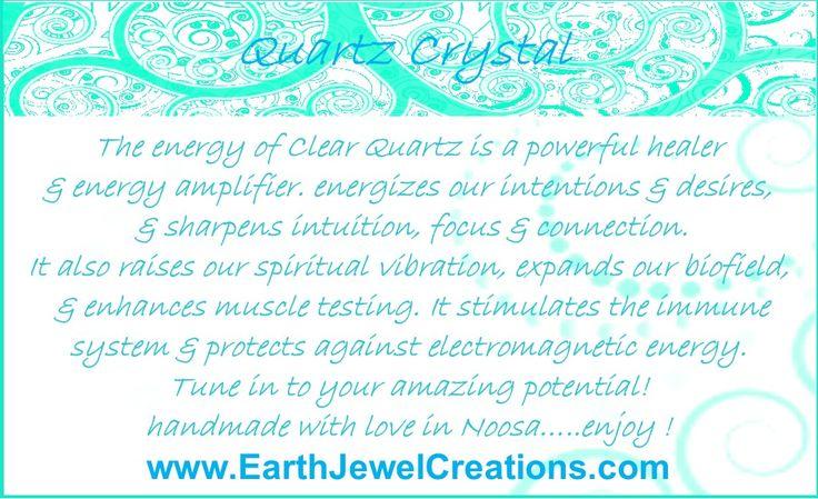 Quartz crystal energy jewelry