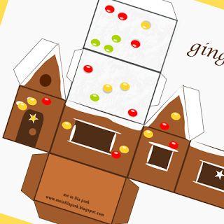Free printable gingerbread house - ausdruckbares Lebkuchenhaus - freebie | MeinLilaPark – DIY printables and downloads