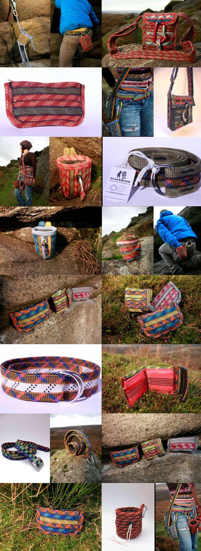 Scavenger, recycled rock climbing gear