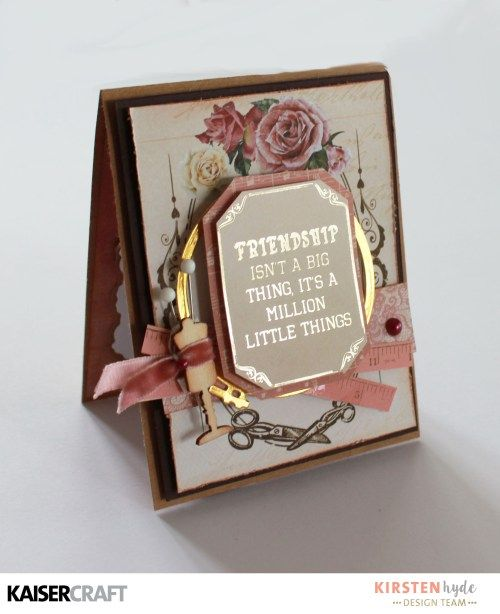 KAISERCRAFT - MADEMOISELLE - SET OF CARDS - KIRSTEN HYDE - MYHYDEAWAY - 6