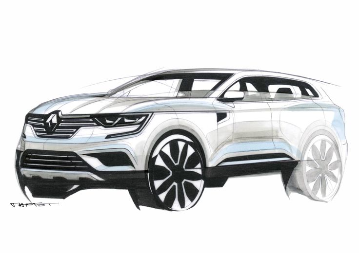Gashetka | Transportation Design | 2016 | Renault Koleos | Renders by Alexis Martot...