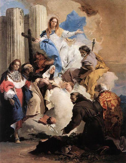 Η Παναγία με τους έξι Αγίους. (1737-40)
