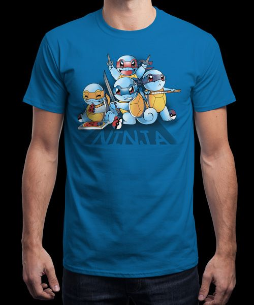 """""""Ninja Squirtles"""" is today's £8/€10/$12 tee for 24 hours only on www.Qwertee.com Pin this for a chance to win a FREE TEE this weekend. Follow us on pinterest.com/qwertee for a second! Thanks:)"""