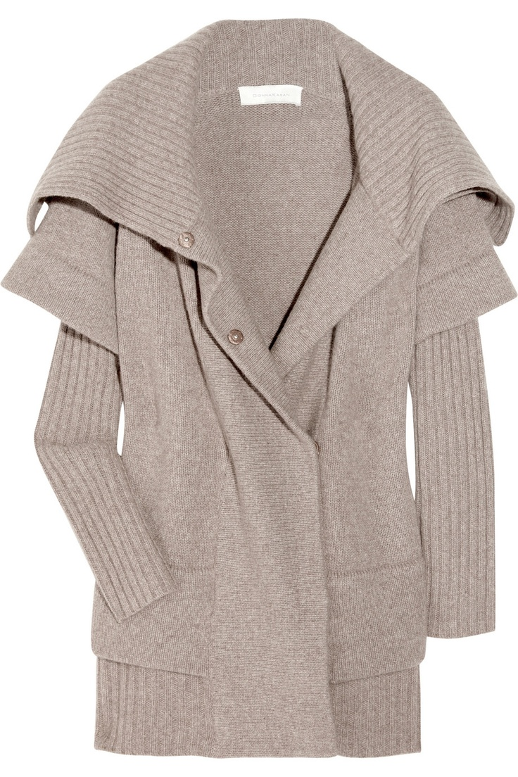 Knitted merino wool and cashmere-blend sweater by Donna Karan