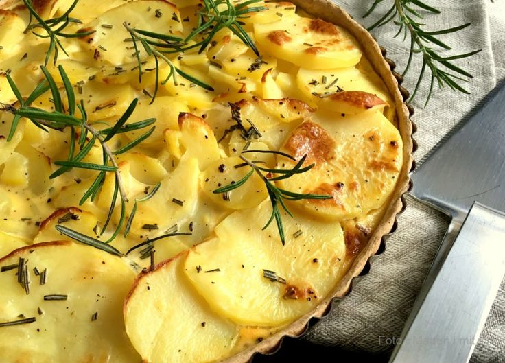Kartoffeltærte med bacon og rosmarin…