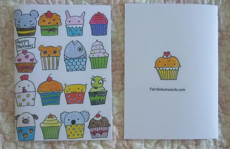Birthday Card Cupcake Greeting Card
