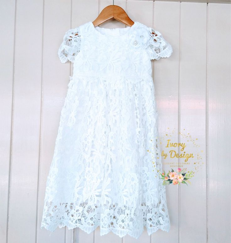 A personal favourite from my Etsy shop https://www.etsy.com/au/listing/536044686/beautiful-white-lace-chic-christening