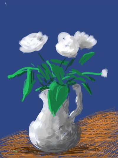 David Hockney's iPad flowers