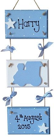 Baby Boys Three Tier Plaque New Baby Gift by PreciousParcelsUK