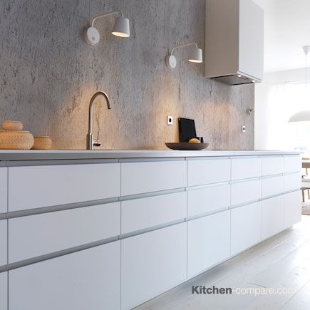 IKEA - Metod Nodsta White. Don't let storage needs boss around style wants. METOD drawer fronts let you create a symmetrical look with neatly aligned drawer fronts that keep appliances and storage right where you want. more information is available here - http://bit.ly/1Q55O1C
