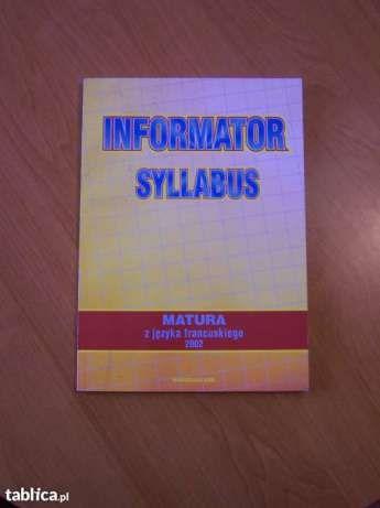 Syllabus Matura z języka francuskiego 2002 Siemianowice Śląskie - image 1
