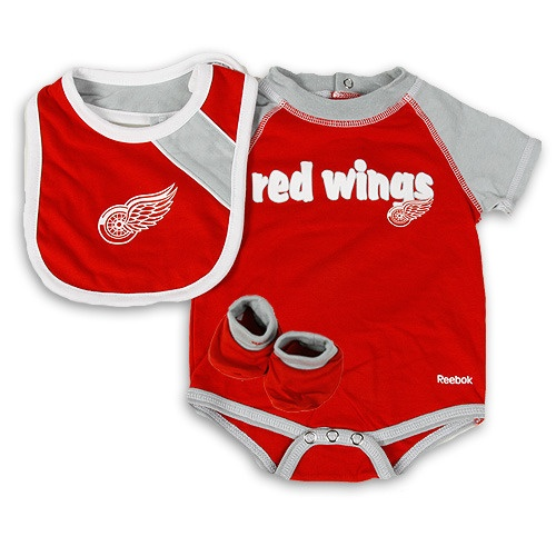 Detroit Red Wings Striped Creeper