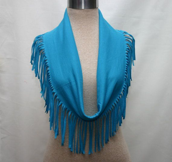 Hey, I found this really awesome Etsy listing at http://www.etsy.com/listing/102981276/t-shirt-scarf-inturquoise-with-fringe