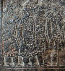 Согдийцы, изображенные на китайском согдийского саркофага Северная Ци эпохи.