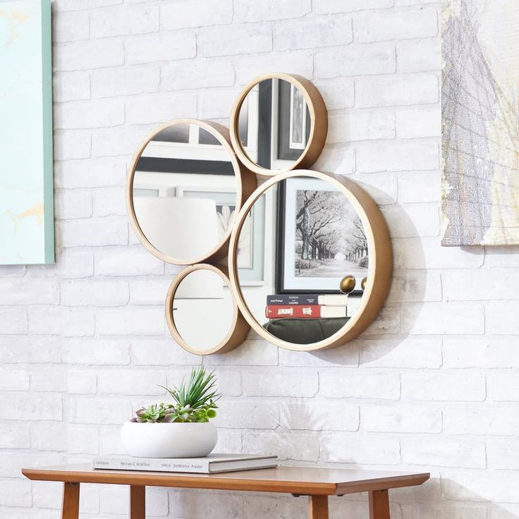 Anya Round Oversized Wall Mirror & Reviews   Joss & Main