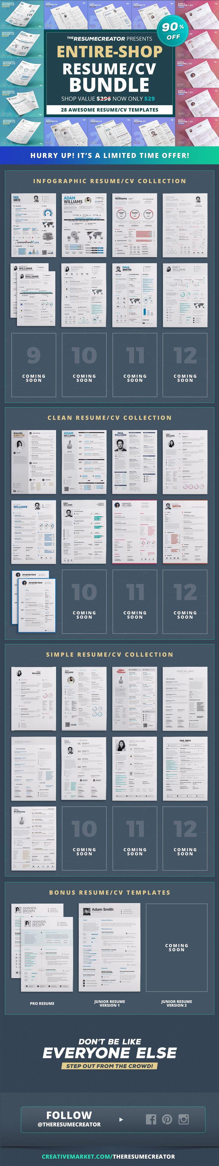 cool ResumeCv templates Bundle 25 best Resume