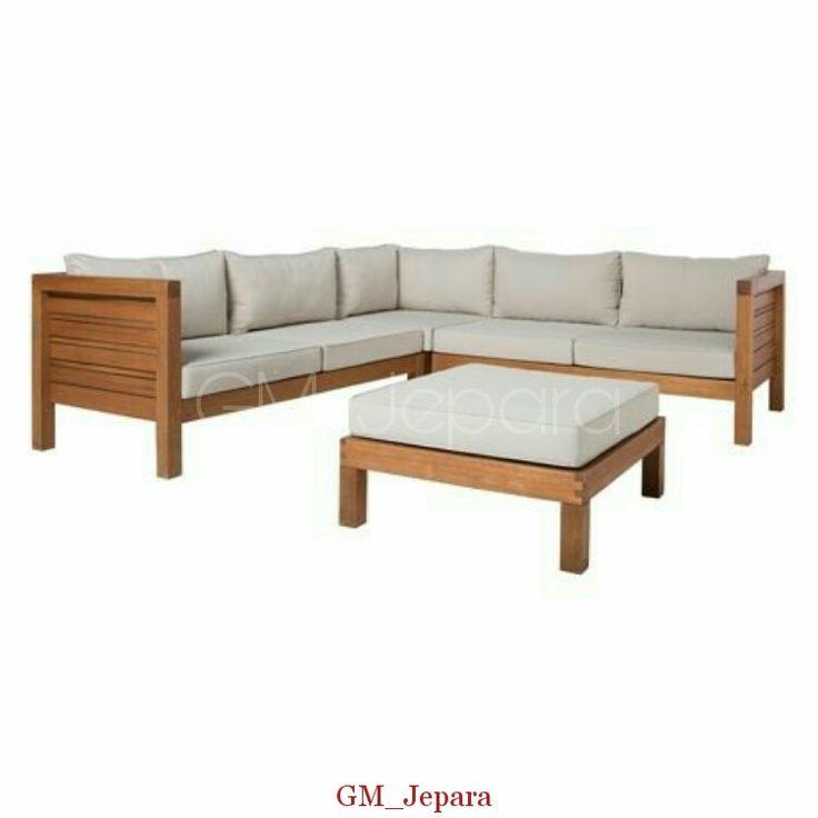 Kursi Sudut Minimalis Kayu Salur, kursi sudut kayu, kursi sudut kayu jati, kursi sudut jati, kursi sudut jepara, kursi sudut kayu minimalis