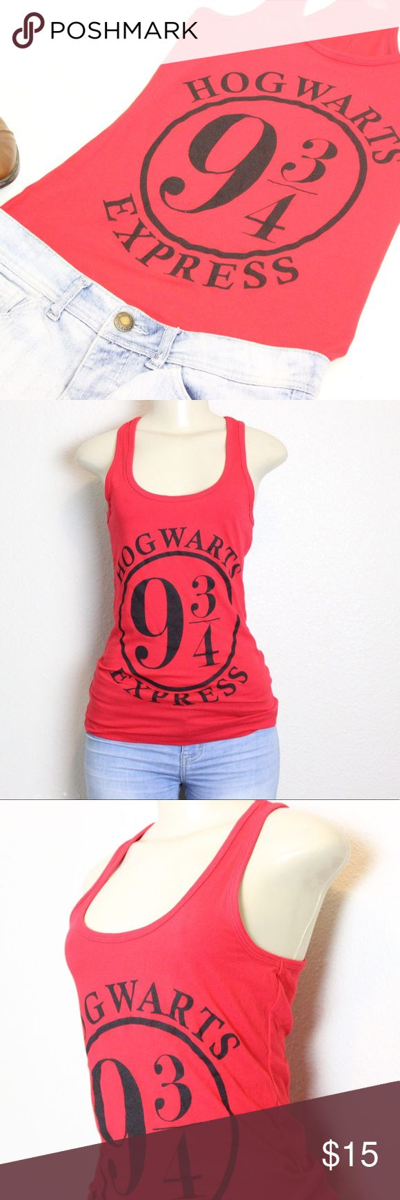 HARRY POTTER WOMENS TEE Harry Potter red WOMENS tee, lightweight material, brand new with tags ❤️ Harry Potter Tops Tank Tops