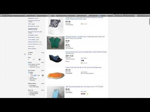 How to Find Items on eBay that are selling to dropship using eBay