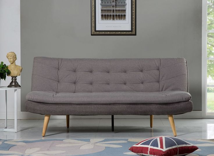 Finished with a sleek contemporary look and a stylish two tone grey fabric, the Osbourne 2 seater sofa bed combines style with practicality for this charming sofa bed solution.