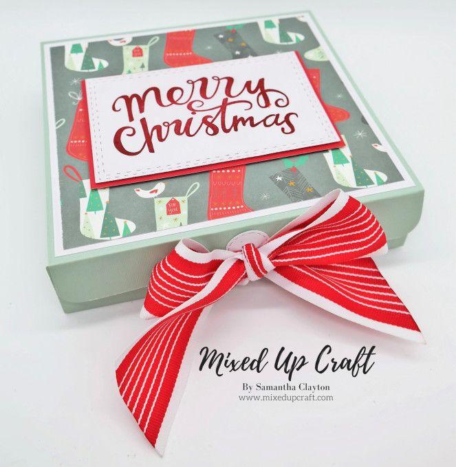 Reinforced 6 X 6 Christmas Gift Box Christmas Gift Box Gift Box Template Handmade Paper Boxes
