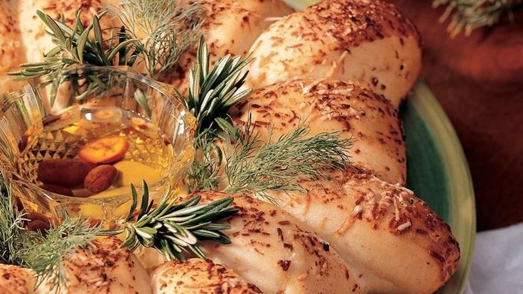 Mmm, the flavors of garlic, Parmesan and olive oil make this easy-to-make bread a mouthwatering holiday treat.