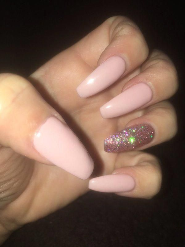 Image Result For Coffin Nails With Glitter Coffin Glitter Image Nails Result Naildesignssummeracr Acrylic Nails Coffin Glitter Baby Pink Nails Pink Nails