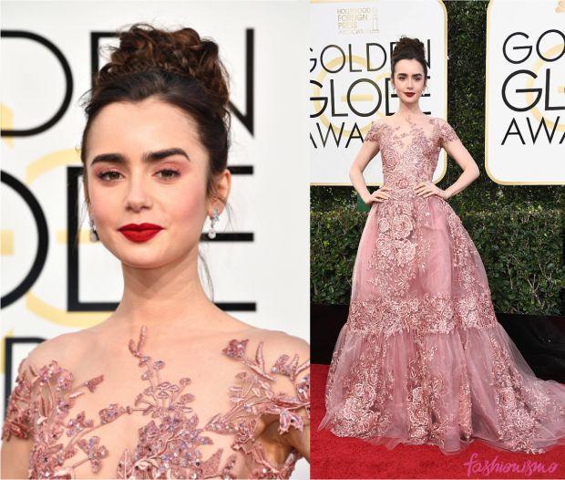 Golden Globe 2017: Lily Collins - Fashionismo
