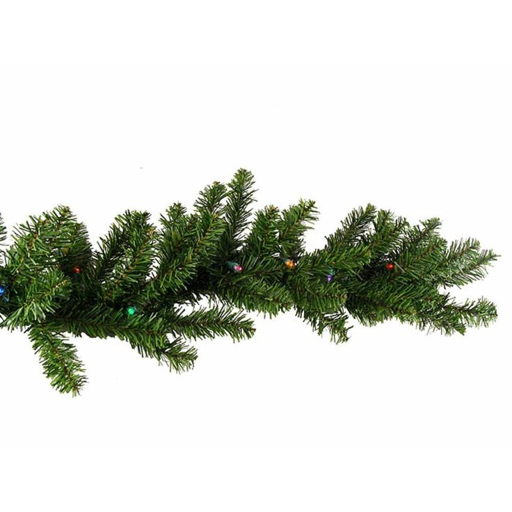 Darice 9' X 10 Pre-Lit Battery Operated Christmas Garland - Multi LED Lights, Yellow