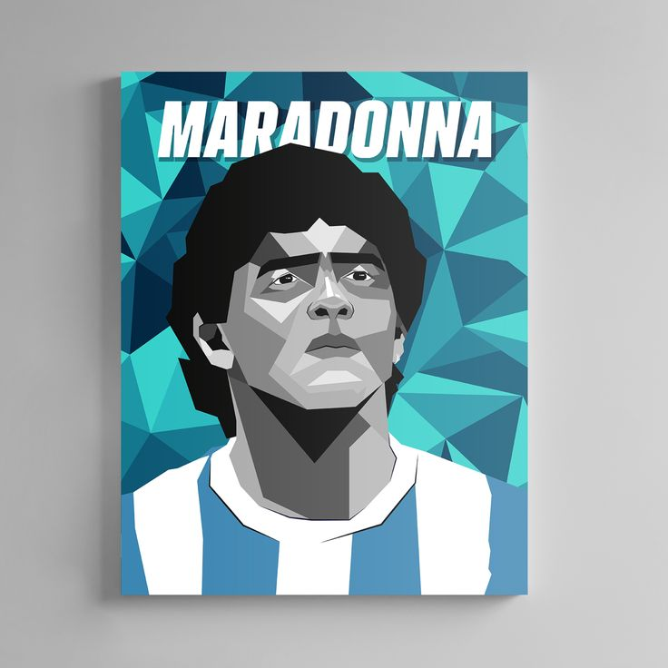 Perfect for decorating any wall space available. Surely what every soccer fan needs! Soccer art / high-quality canvas print / Passion and style captured in color. #gifts #giftsforboyfriend #giftsfordad #soccer #football #futbol #fussball #messi #ronaldo #homedesign #homedecorideas #homedecoration #wallartprint #wallartdecor #artwork #art Wall Art Decor, Wall Art Prints, Canvas Prints, Soccer Art, Diego Armando, Hope Symbol, Babe Ruth, Mike Tyson, Football Players