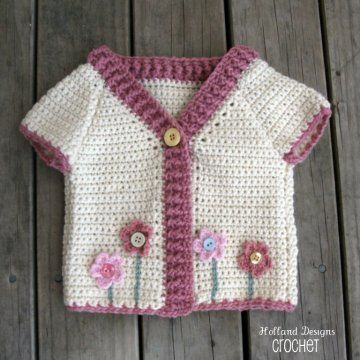 flower garden cardigan crochet pattern