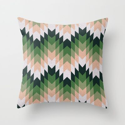 Zigzag Paint Throw Pillow by Babiole Design - $20.00