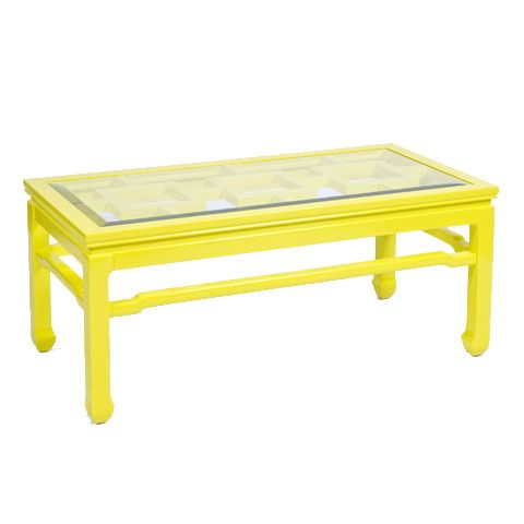 Yellow Lacquer Coffee Table w. Clear Glass Top - 25+ Best Ideas About Yellow Coffee Tables On Pinterest Used
