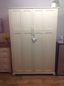 Old priory double wardrobe painted in f paint