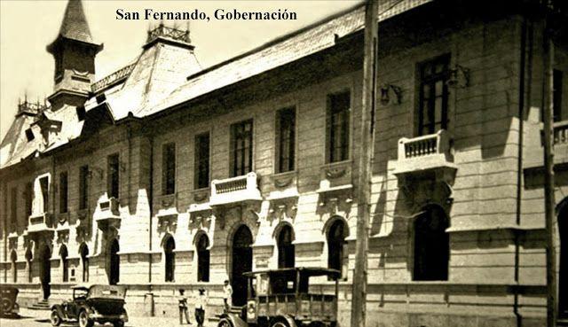 Imágenes de Chile del 1900: San Fernando, Gobernación