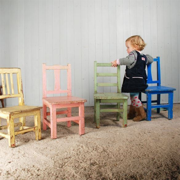 Painted Chairs Childrens Kids, Small Childrens Furniture