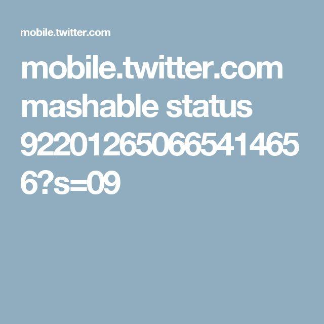 mobile.twitter.com mashable status 922012650665414656?s=09