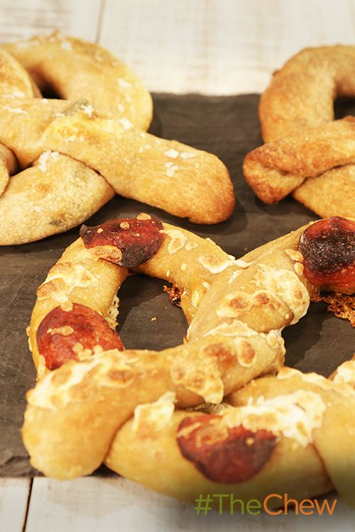 Have your own stuffed pretzel party with these Stuffed Soft Pretzel Party tonight!