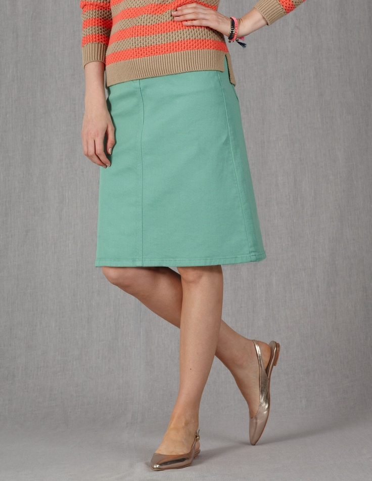 Everyday A-Line Skirt WG455 Knee Length Skirts at Boden